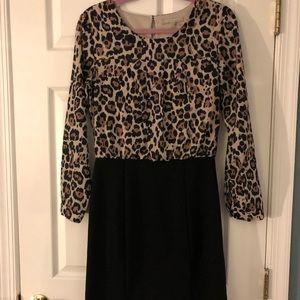 Banana Republic leopard suit dress, size: 6P
